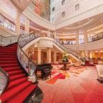 Cunard, QM2, Atrium lounge, Fred. Olsen Travel