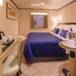 Cunard, QM2, inside Atrium cabin, Fred. Olsen Travel