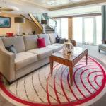 Cunard, QM2, Duplex Q2 suite lounge, Fred. Olsen Travel