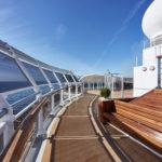 Cunard, Queen Victoria on deck, Fred. Olsen Travel