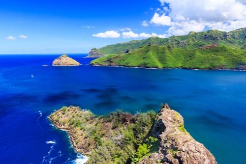 Nuku Hiva, Stillehavet