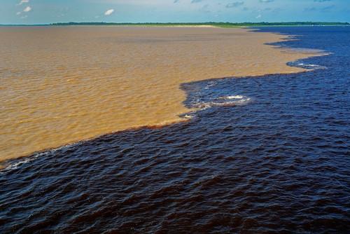 Meeting of the waters ,Santarem, Brasil