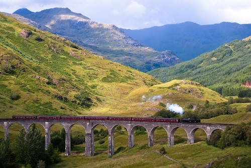 Glenfinnan Viaduct, Fort William, Skottland