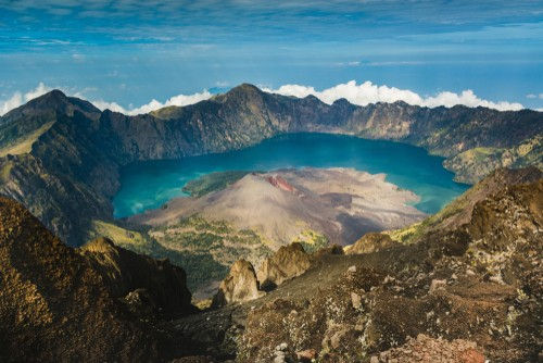 Mount Rinjani, volcano, Indonesia