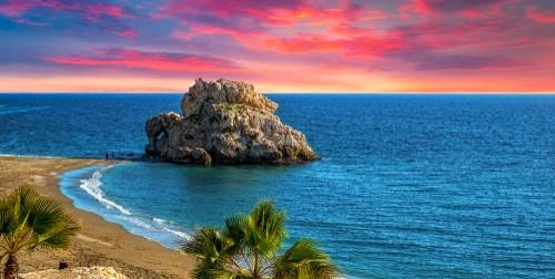 Penon del Cuervo. Costa del sol, Malaga, Spain, Spania