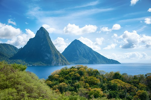 Pitons at Saint Lucia, West Indies