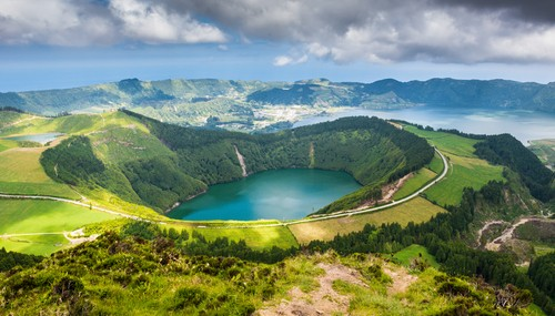 Lake of Sete Cidades, Azores, Portugal