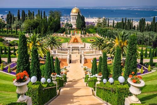 Bahai gardens, Carmel Mountain, Haifa city, Israel