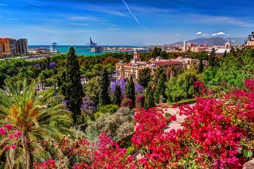 Gibralfaro castle, Malaga, Spain, Spania