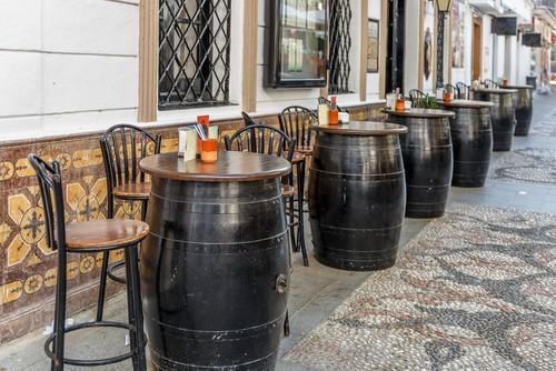 Typical Spanish bar, Malaga, Spain, Spania