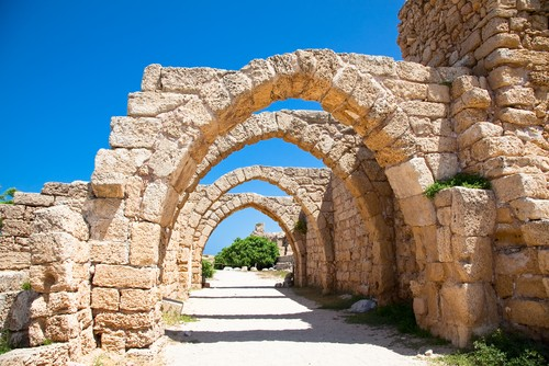 Caesarea, i nærheten av Haifa, Israel