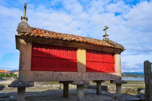 Horreo nær Vigo, Galicia, spania