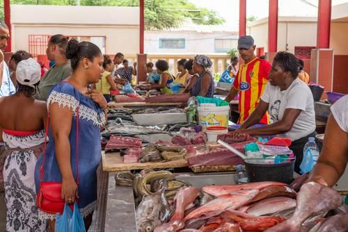 Fiskemarked i Mindelo, Cape Verde