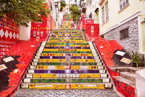 Berømt trapp i Rio de Janeiro