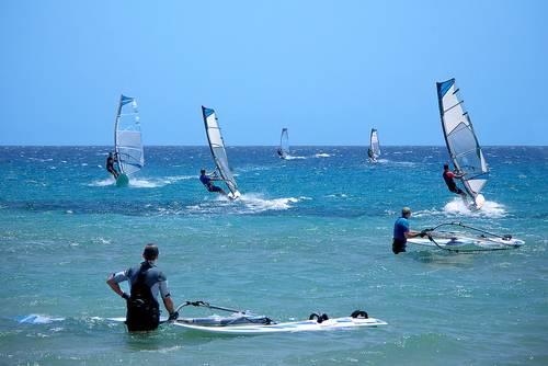Windsurfers, Safaga, Egypt