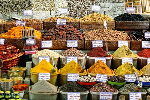 Krydder, Grand Bazaar, Istanbul, Tyrkia