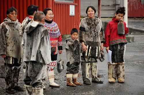 Inuit eskimo group, Grønland