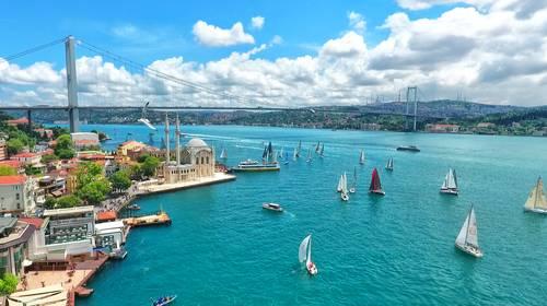 Bosphorus Bridge, Istanbul, Tyrkia