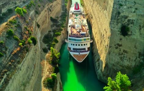 Greske øyer og cruise gjennom Korintkanalen 2021