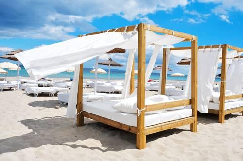 Strandklubb, Ibiza, Balearene, Spania