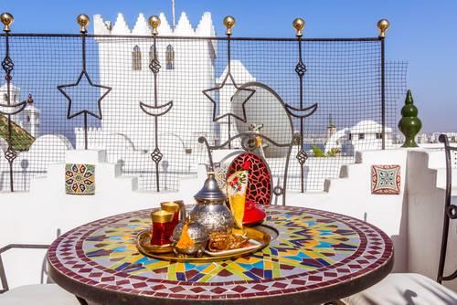 Te service, Tangier, Marokko