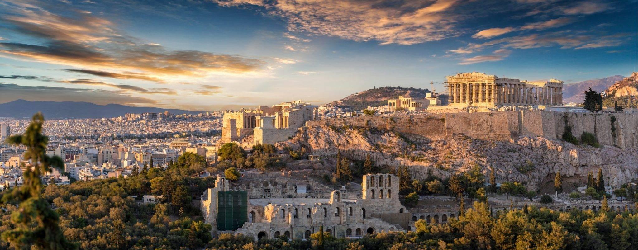 Akropolis, banner