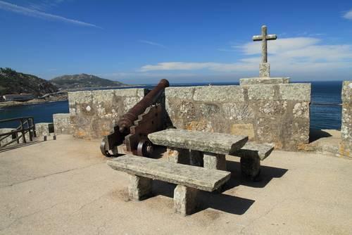 Monte Real Castle Canyon, Bayona, Vigo, Pontevedra, Spania