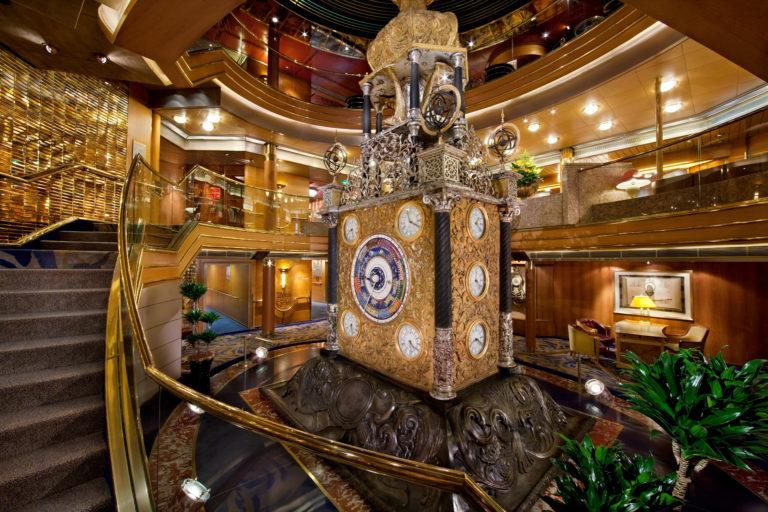 Borealis - Atrium astronomisk klokke - Fred. Olsen Cruise Lines
