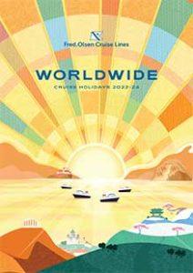 Fred. Olsen Cruise lines Worldwide brosjyre 2022-2024